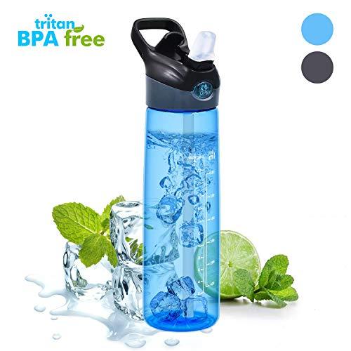 WeluvFit Trinkflasche Sport 700ml Wasserflasche Auslaufsicher - BPA-Frei Sportflasche mit Pop-up Düse für Sport, Gym, Fitness, Fahrrad, Kinder, Camping