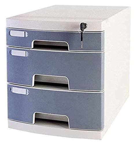 LIUYULONG Armoire de rangement de fichiers, comptoir, armoire de papeterie, armoire de bureau 3 couches A4, armoire de rangement avec serrure en plastique amovible (taille : B)
