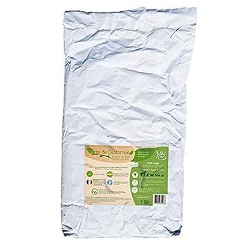 l'herbe Haute ® Terre de Diatomée Blanche Alimentaire - 5 kg Sac - Utilisable en Agriculture Biologique - Origine Naturelle sans Transformation Chimique - Nombreux usages