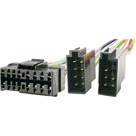 Sound Way Kabel Adapter Stecker Iso Kompatibel Mit Autoradio Jvc 16 Pin Auto