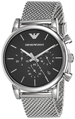 Emporio Armani Herren Chronograph Quarz Uhr mit Edelstahl Armband AR1811