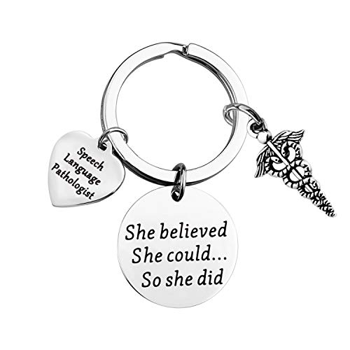 BLEOUK Speech Language Pathologist Jewelry She Believed She Could So She Did SLP Insparational Gift