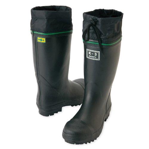 [ユニフォームU-style] (アイトス) AITOZ 鋼製先芯入り 安全ゴム長靴 (踏み抜き抵抗板入り) (K-3) (AZ58601) ブラック 24.0