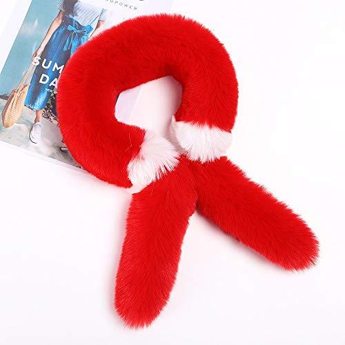 Alvnd dames single tube kleurafstemming sjaal Cross voor sjaal elegante dames winter warm dikke sjaal (35,4