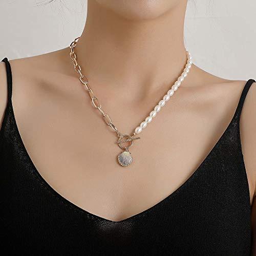 Fairvir Gargantilla bohemia con perlas doradas, para fiestas en la playa, collares diarios, joyas para mujeres y niñas