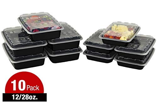 Isobag Mahlzeiten-Behälter Kombination - 2 Größen (5) 350 ml, (5) 830 ml