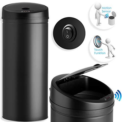 Kesser® Sensor Mülleimer ✓ Automatik ✓ Abfalleimer ✓ Abfall | Edelstahl | Farbe: Schwarz | Größe: 40 L