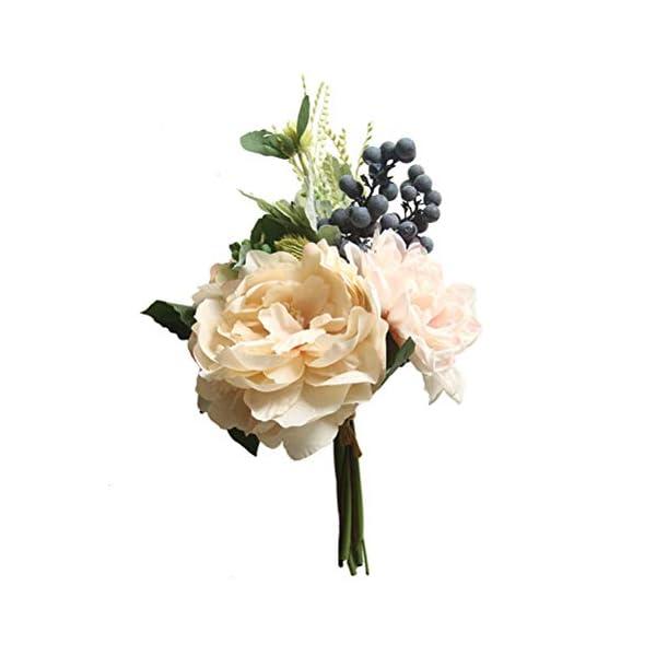 LIOOBO Dalia Artificial Simulación de Flores Bayas Ramo Decoración del Hogar Accesorios de Fotos de Boda