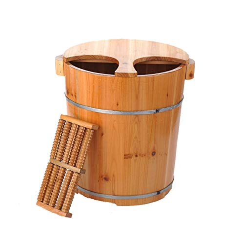 Best Prices! Wooden Foot Basin,Solid Wood Foot Tub,Household Sleep, Improve Wooden Bucket Foot Tub N...
