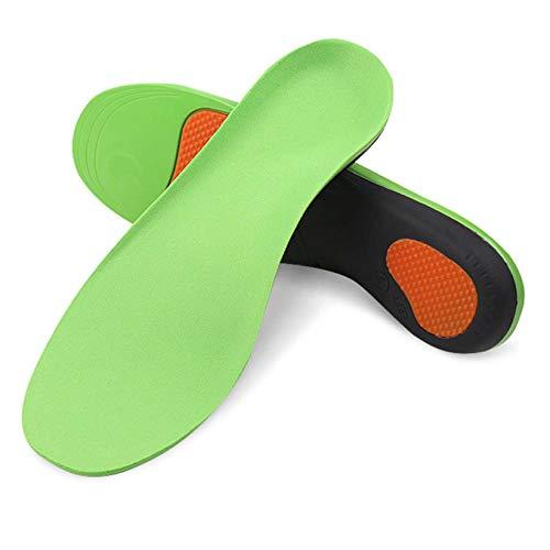 SJHFG Plantillas ortopédicas de arco de pie inserciones de zapato de apoyo de pie inserción de absorción de golpes de pies planos para zapatos de trabajo atléticos, código L (Código 43-45)