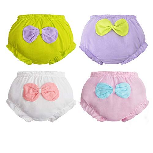 Pantalones de Entrenamiento para Bebé 4 Paquetes, Morbuy Niños Niñas Bragas de Aprendizaje Reutilizable para niños Pequeños de Algodón pañales Ropa Interior (A,100# /2-3 años)
