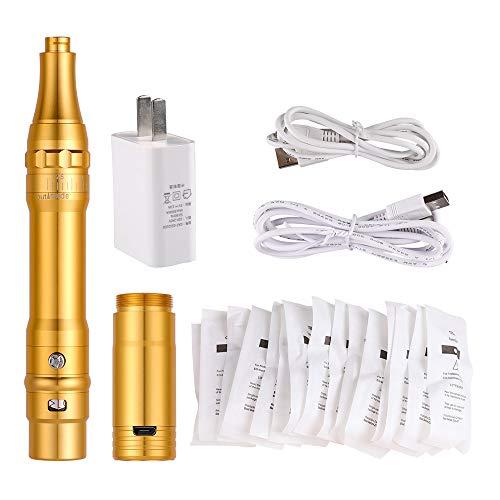 Charme Princesse Wireless Permanent Makeup Machine with 15pcs Needles Cartridges 5w Motor Tattoo Machine for Miroblading Shading Eyeliner Lip Gold EM403-1