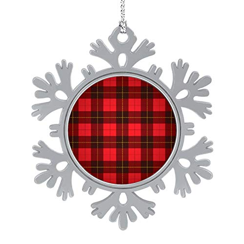 DESPKON Snowflake Pendant Christmas Lattice Photo Snowflake Ornament for Farmhouse Primitive Country Decor 2 Inch