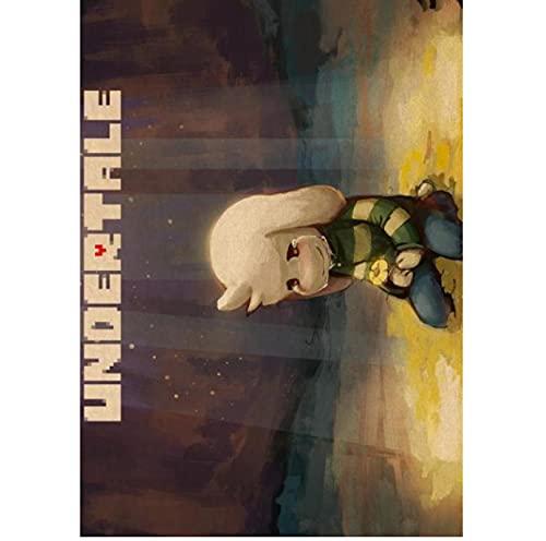 Klassisches Spiel Undertale Poster Leinwand Gemälde für Coffee Shop Bar und Kinderzimmer Home Schlafsaal Dekoration 50x70 cm (19,68x27,55 in) S-1026
