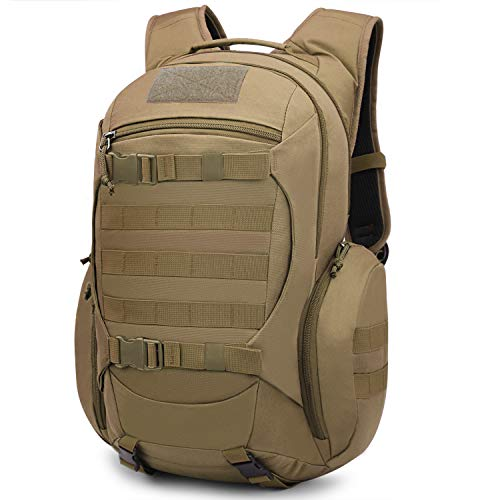 Mardingtop 28L Tactical Backpacks Molle Hiking daypacks for Camping Hiking Military Traveling 28L-Khaki