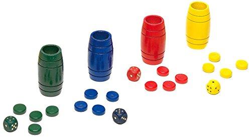 Cayro - Accesorios para parchís para 4 Jugadores, de Madera