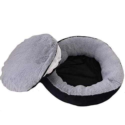 Demarkt Cama redonda para mascotas de peluche con forma de donut para dormir, para perros pequeños y medianos