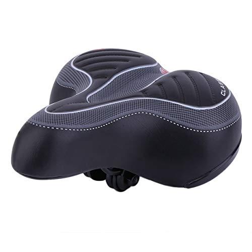 Kurphy - Sillín de bicicleta de gel para bicicleta, color negro