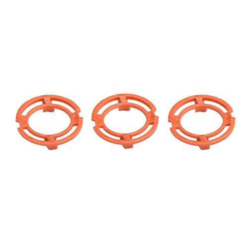 3PCS Blade Retaining Ring, Shaver Razor Retaining Lock-Ring, Orange Blade Retaining-Plate Holder Rings Shaver Holder Lock Ring for Shaver Norelco Series 7000 9000 RQ12 Models