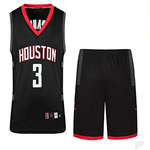 LLSDLS Camiseta Conjunto de la NBA for Hombre Traje de Baloncesto con Cohete Harden Bordado Jersey Vintage # 13# 3 Conjunto de Sudadera Negro # 13-M Camiseta (Color : Black#3, Size : Large)