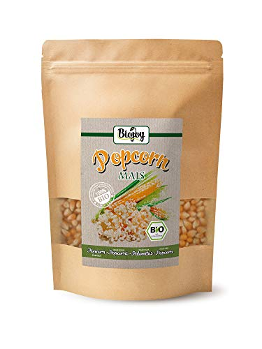 Biojoy Mais per Pop-Corn BIO, senza OGM, per le macchine per Popcorn (1 kg)