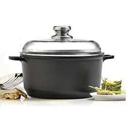 in budget affordable EuroCAST by BergHOFF Casserole with lid 11 ″ 7.4q | Ceramic and titanium stove…