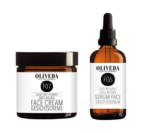 Oliveda Anti Aging Gesichtsserum 30ml + 24h Gesichtscreme 50ml