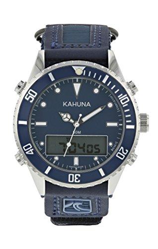 Kahuna Herren-Armbanduhr, sportlich, blaues Zifferblatt, Nylon-Armband, wasserdicht bis 50m–K5V-0011G