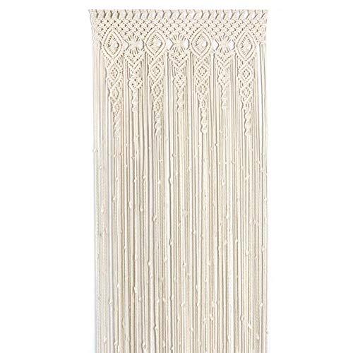 Tapiz Macrame Cortinas, 100x200cm cortina para colgar en la pared Tapicería tejida Decoración de la pared Adorno para el hogar para el apartamento Dormitorio Sala de estar Banquete de boda