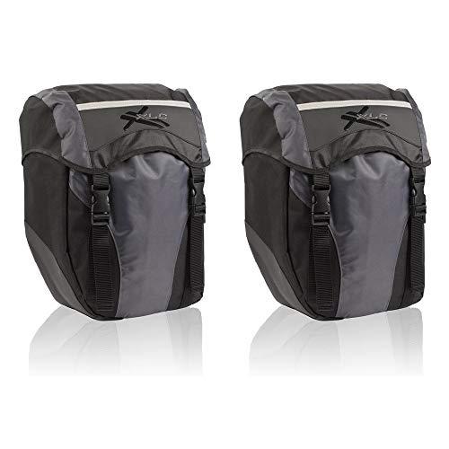 XLC Unisex– Erwachsene Einzeltaschenset BA-S40, Schwarz Anthrazit, 140x360x290