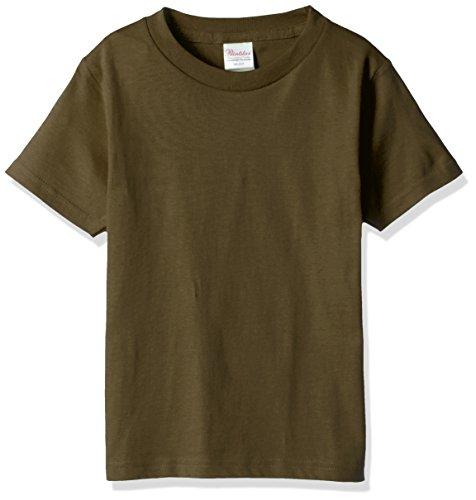 プリントスター 半袖 5.6オンス へヴィー ウェイト Tシャツ 00085-CVT キッズ オリーブ 日本サイズ 140cm