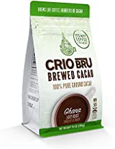Crio Bru Ghana Light Roast 10oz Bag | Natural Healthy Brewed Cacao Drink | Great Substitute to Herbal Tea and Coffee | 99% Caffeine Free Gluten Free Whole-30 Low Calorie Honest Energy