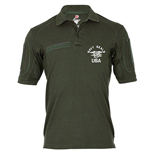 Tactical Poloshirt Alfa Navy Seals US Army Special Unit Military Emblem