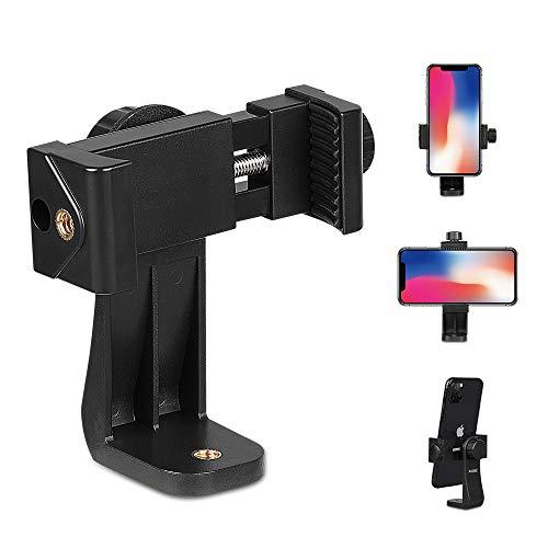 MEMUMI Adaptador de Trípode Universal Sorporte para Celular, Phone Holder Mount Adapter Giratorio 360° Soporte para Teléfono con Adaptador de Tornillo de 1/4' para iPhone y Celulars 4-6.8'