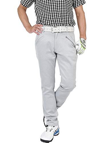 【コモンゴルフ】 COMON GOLF メンズ 高級 ストレッチ ポンチ素材 ウエスト ゴム入り ゴルフ パンツ CG-21002ST L / 股下76cm 杢グレー