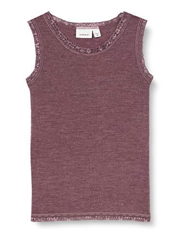 NAME IT Mädchen NKFWANG Wool Needle Tank TOP XX T-Shirt, Flint, 122-128