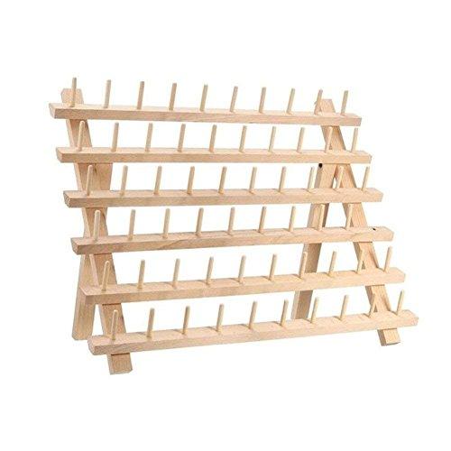 Ecosway Holzspulenhalter, 60 Spulen, faltbar, Nähgarn, Spulenaufbewahrung, Nähgarn, Nähzubehör, 40 x 18,5 x 27,5 cm