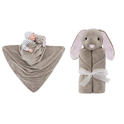 Babydecke Fleece Schmusetuch Luxus Weich Tröster Tier Kuscheldecke Schlafsack Babywagen Decke Geburtstagsgeschenk für Neugeborene 30