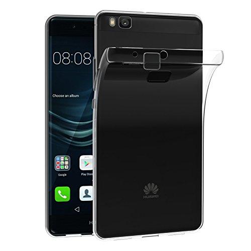 VGUARD Funda Huawei P9 Lite Slim Fit Huawei P9 Lite Funda Carcasa Case Bumper con Absorción de Impactos y Anti-Arañazos Espalda Case Cover para Huawei P9 Lite - Transparente