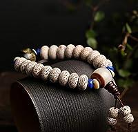 Fengshui Schutz Tibetische Buddha Mantra Dzi Beads Brown Agate Stern-Mond Pipal Baum-Samen Reichtum buddhistischer Armband für Männer Frauen Amulett Talisman Armband Attract Geld Good Luck