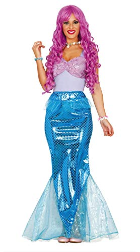 Guirca- Disfraz adulta sirena, Talla 38-40 (84583.0)