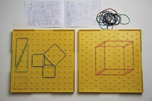 WISSNER 081615.100, Geoboard de doble cara, Amarillo, 23 cm x 23 cm