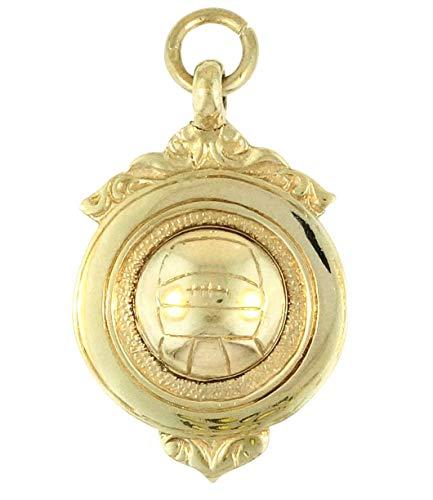 Colgante de plata de ley con diseño de Netball (21 x 30 mm)