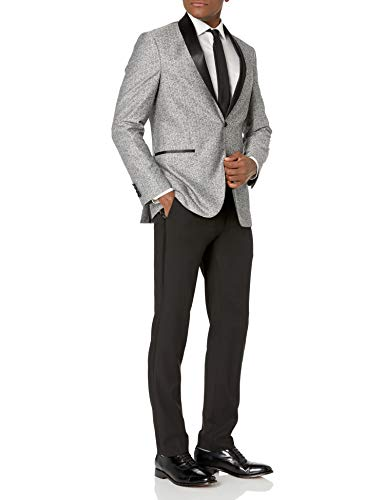 Kenneth Cole REACTION Grey Slim Fit Tuxedo