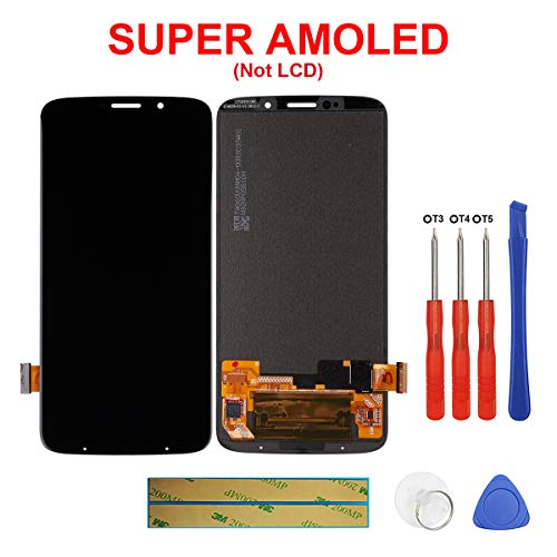 swark Super AMOLED Display Compatible with Motorola Moto Z3 Play XT1929-1 XT1929-6 XT1929-6M XT1929-8 XT1929-15 XT1929-17 6.01'' (Schwarz Ohne Rahmen) LCD Display Touchscreen + Tools
