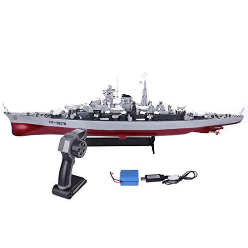 Teakpeak RC Schlachtschiff Ferngesteuert, 71cm 1: 360 RC Militär Schlachtschiff RC Kreuzer Kriegsschiff Spielzeug