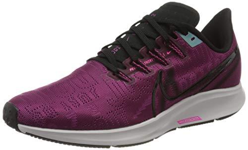 Nike Women's W AIR Zoom Pegasus 36 PRM Running Shoes, Red (True Berry/Black-Pink Blast-Platinum Tint 600), 3.5 UK