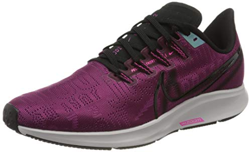 Nike Women's W AIR Zoom Pegasus 36 PRM Running Shoes, Red (True Berry/Black-Pink Blast-Platinum Tint 600), 3.5 UK