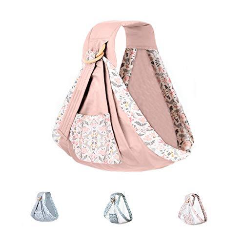 Uamita - Faja portabebés de algodón transpirable - Práctica riñonera ergonómica para niños de hasta 20 kg - Tejido de calidad - Producto sin uso de fibras sintéticas (Rosa Fantasy)