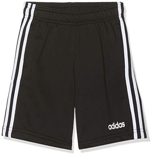 adidas Jungen Shorts Essentials 3-Streifen Knit, Black/White, 158, DV1796